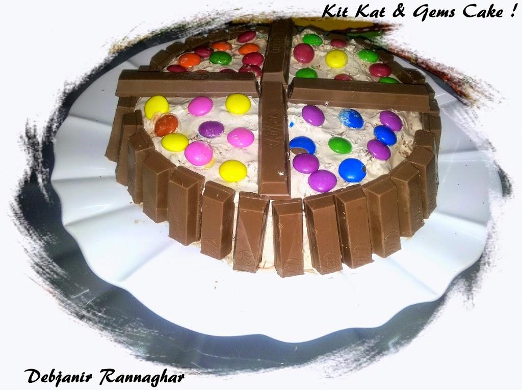Kit Kat & Gems Cake