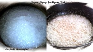 %Sugar Syrup making for Mysore Pak