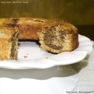 %Easy Eggless Marble Cake Recipe