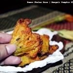 Kumro Phuler Bora |Bengali Pumpkin Flower Fritters