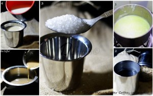 %Step by step Making of South Indian Filter Coffee