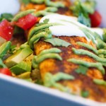 Tilapia Burrito Bowl with Healthy Avocado Crema: Gluten Free