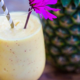Clean Eating Smoothie | Pineapple flavor. This recipe is made with clean ingredients, is fresh, smooth and healthy.