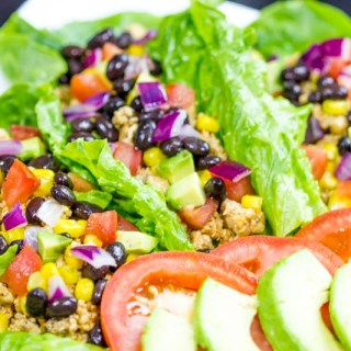 Lettuce Wraps |Taco Style: This no carb recipe is a healthy and easy lunch or breakfast. Delicious, colorful and fun!