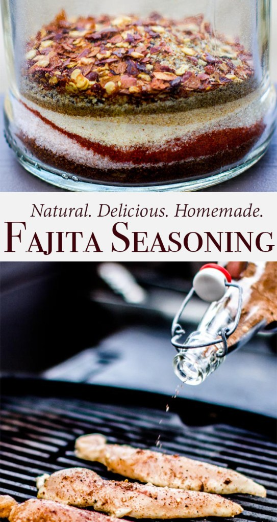 All natural, delicious and homemade fajita seasoning recipe. No flavor enhancers or additives - and it will STILL keep you wanting more. Made with just the right amount of spice, and perfect for chicken, steak or shrimp fajitas.
