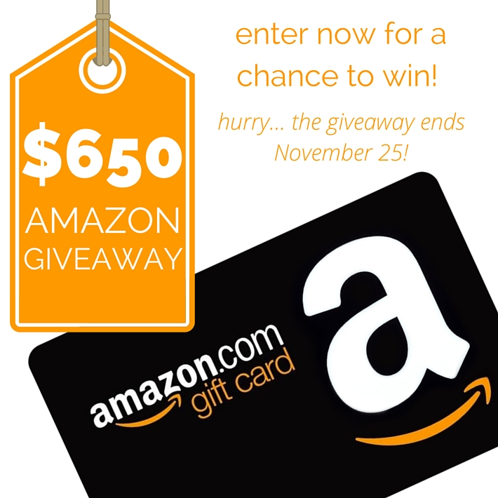 Enter to win 650$ in amazon cash