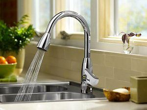 High spout height and single metal lever- American Standard 4175.300.002 Kitchen Faucet