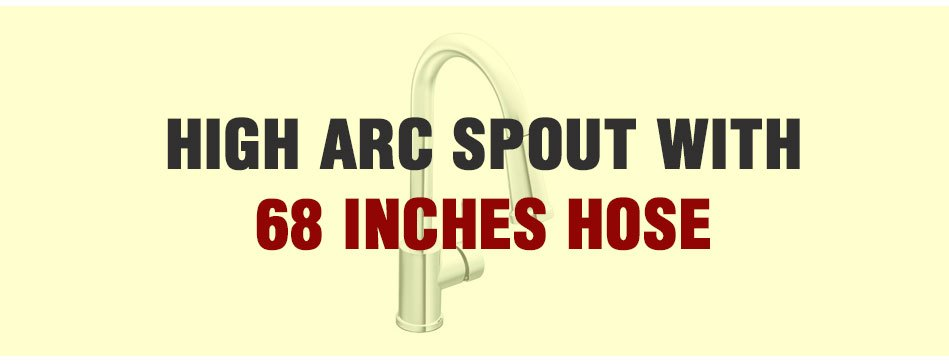 High Arc Spout with 68inches hose