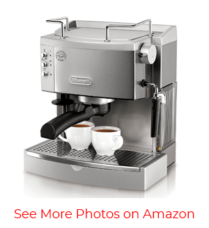 DeLonghi EC702 15-Bar-Pump Espresso Maker – Fastest Coffee Brewer