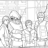 Make Your Own Star Wars Adventure With 50 Vintage 1980's Coloring Pages