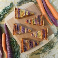 Striped Carrot Tart