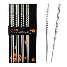 Rbenxia Metal Steel Chopstick