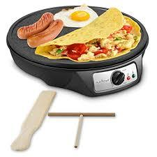 Electric Griddle Crepe Maker Cooktop - Nonstick 12 Inch Aluminum Hot Plate