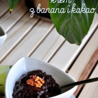prosto, zdrowo i na słodko, czyli krem z bananów i kakao