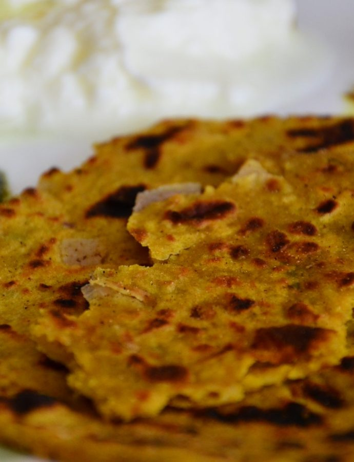 Aaloo ke Paranthe ~ Whole Wheat and Potato Flatbread