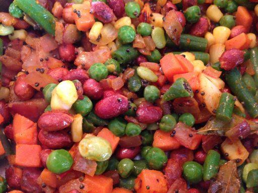 Mixed veggies and tadka