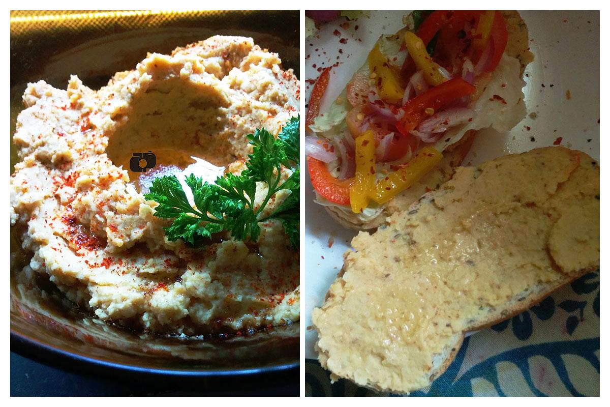 Vegan Hummus Sandwich