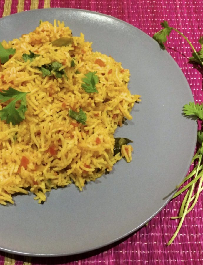 A Quick Tomato Rice Lunch/Dinner