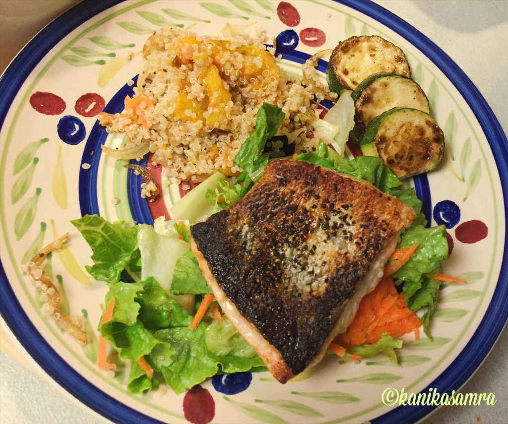Salmon and quinoa - protein packed meal to keep you going
