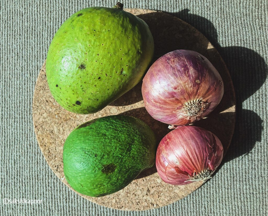 Raw Mango Onion Chutney recipe for summers