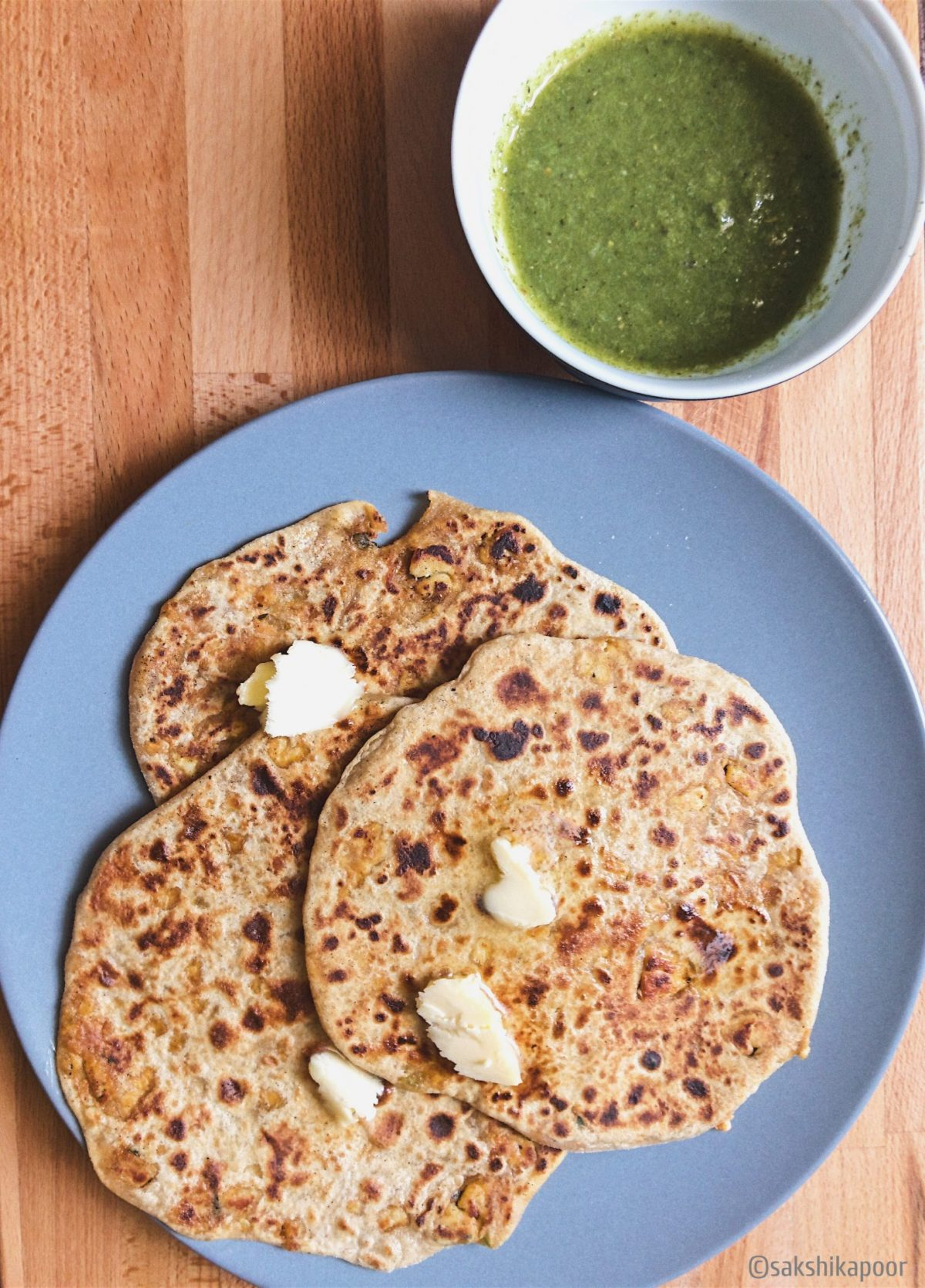 Paneer Paratha serving suggestion