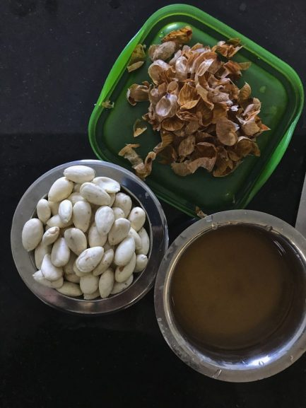 Peeled soaked badam