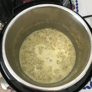 Besan for making a gravy, Instant Pot Aloo Tari.