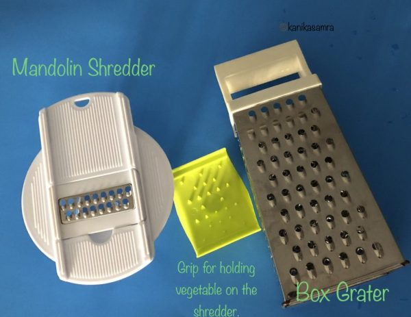 Simple grater for making zucchini noodles