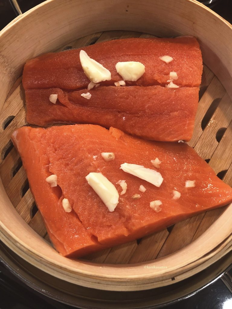 Steamed Salmon for dinner