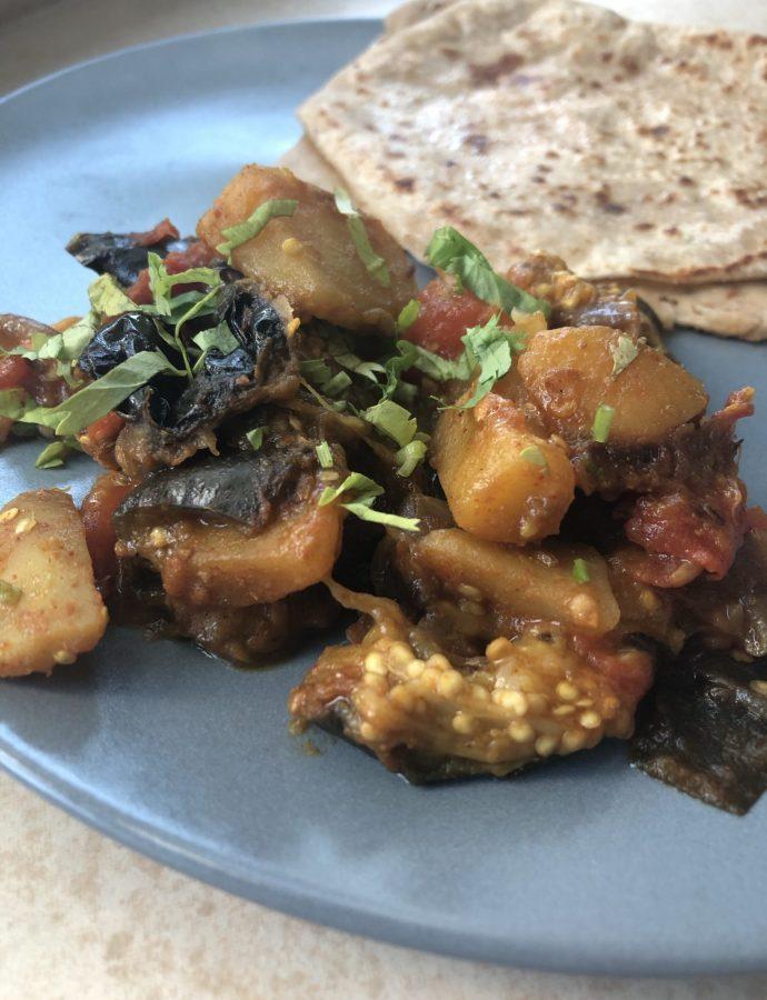 Saunf wale Aloo Baingan – Fennel flavoured goodness!