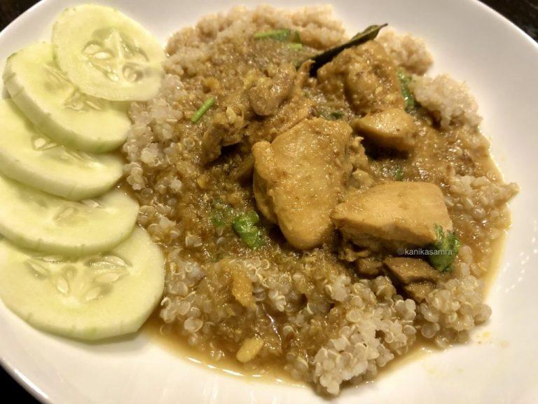 Three Ingredient Chicken Curry w Quinoa close up
