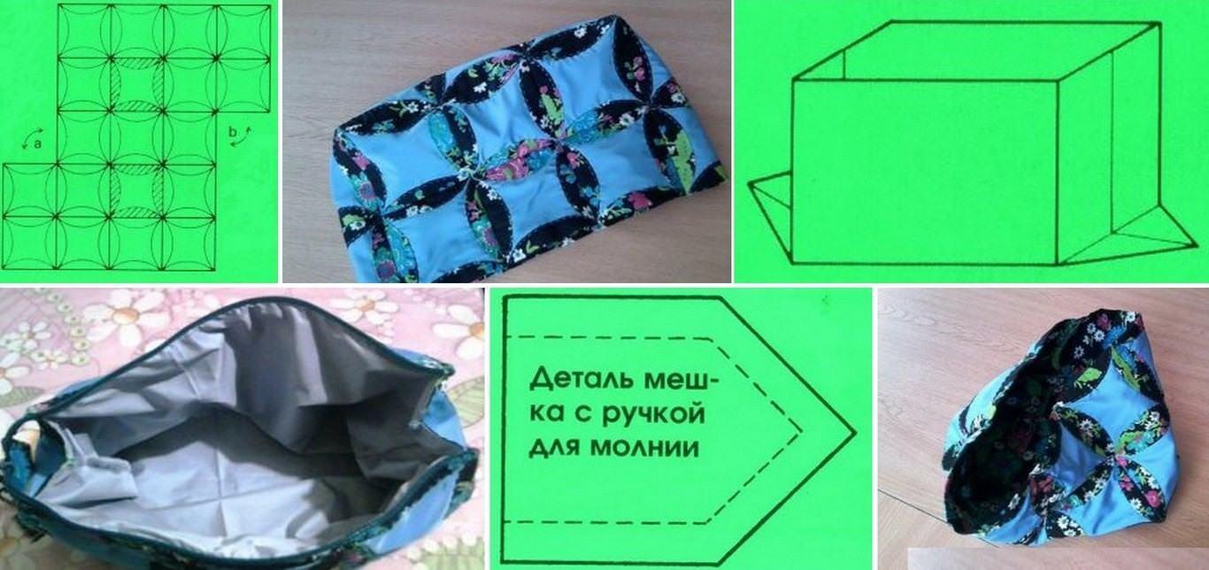 6fd0a4094f22 Косметичку или кошелек сложить изнанкой внутрь. Сверху подворачиваем на 1  см вровень с лицевой стороной, закрепляем булавками и приметываем.