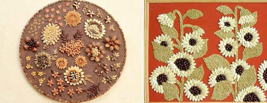 Украшение картинки из семена