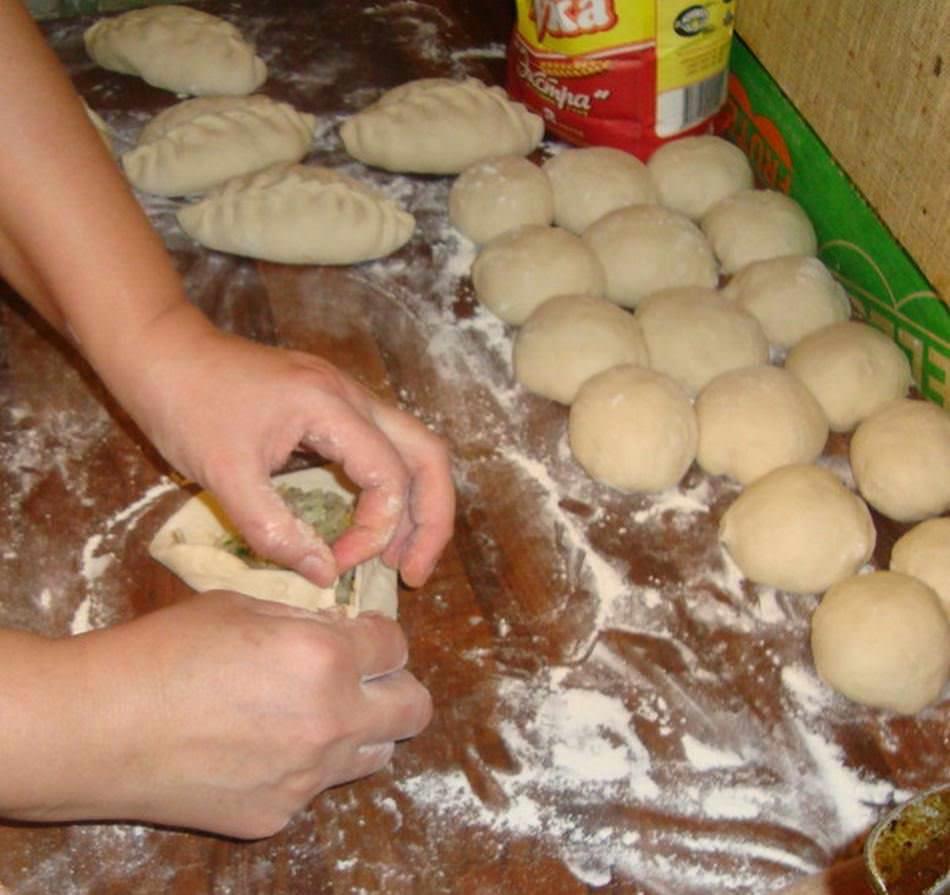 как правильно завернуть пироги с начинкой