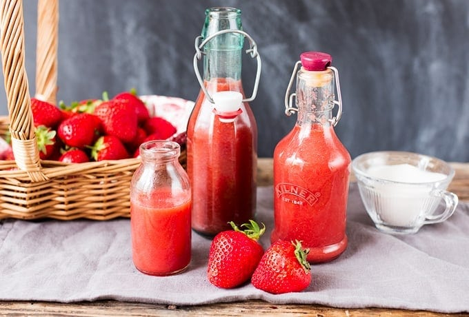 Simple Strawberry Sauce - use on ice cream, in popsicles, on granola - you can even use it as cordial.