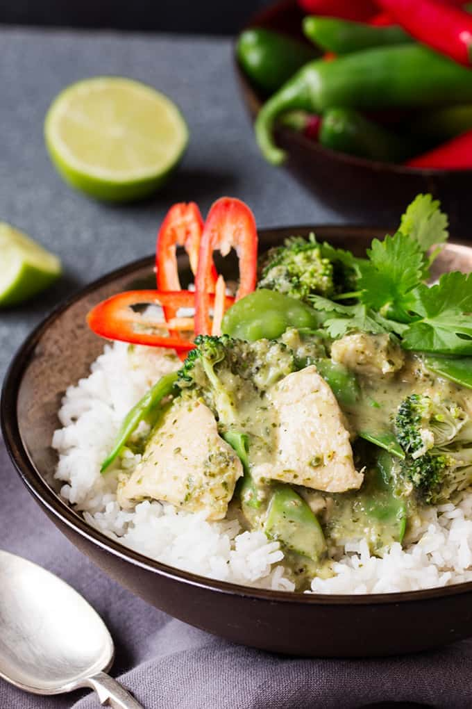 Skinny Thai Green Curry - Nicky's Kitchen Sanctuary