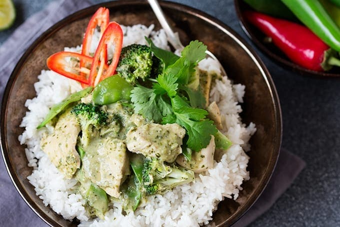 A beautifully aromatic Thai Green Curry Paste made without oil.