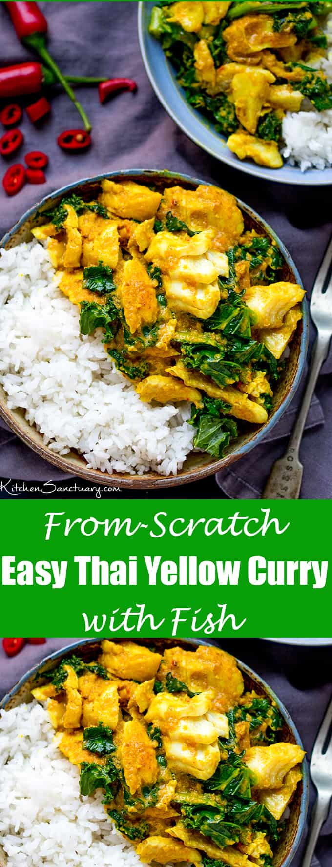 No bland flavours over here! This Easy From-Scratch Thai Yellow Curry with Fish is simple, delicious and speedy too!