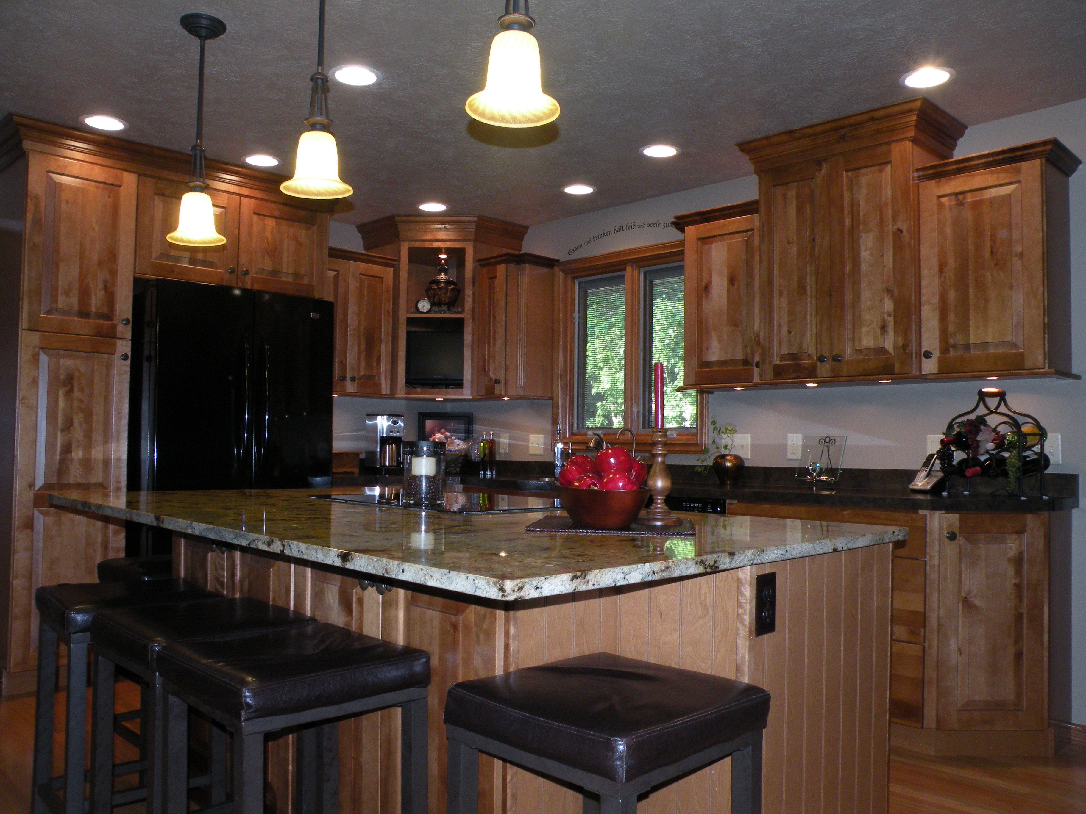 Great Rustic Birch Kitchen Cabinets   Rustic Birch Kitchen