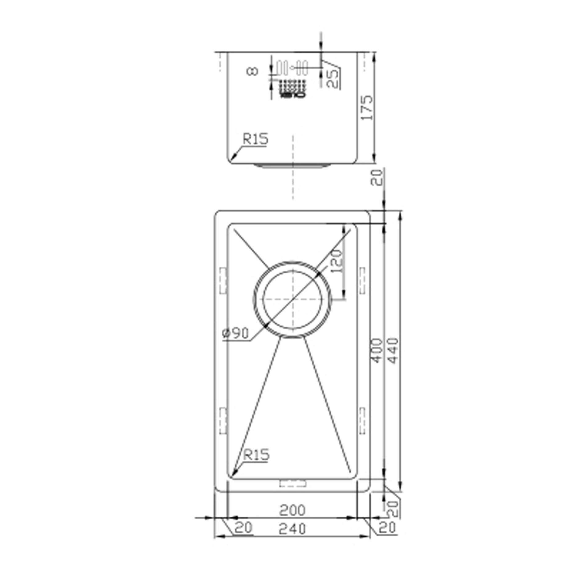The Company Zenuno15 200u Stainless Steel Sink