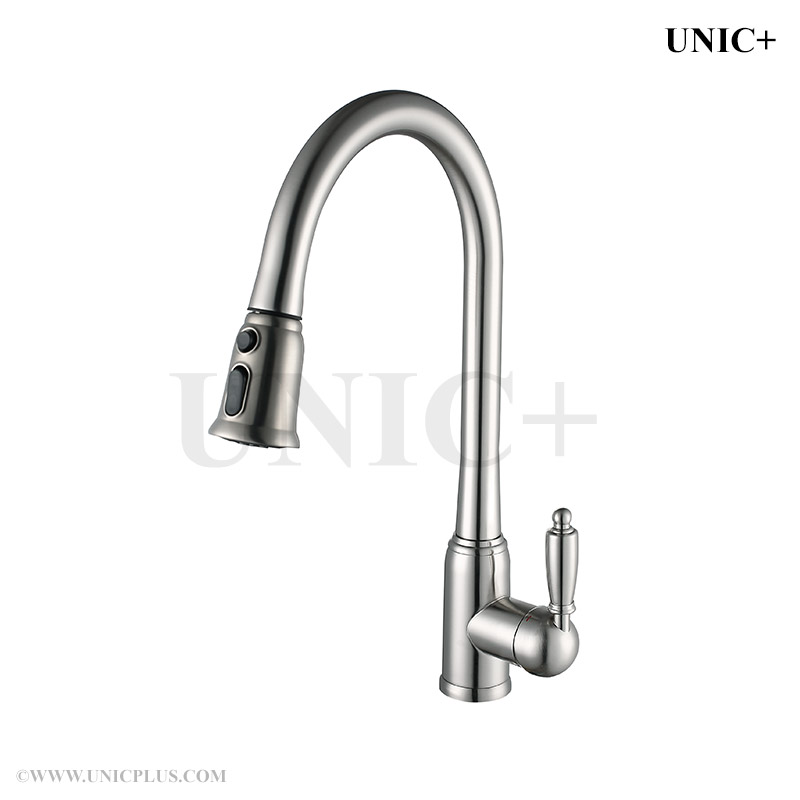 pull out style solid brass kitchen faucet kpf003 in vancouver