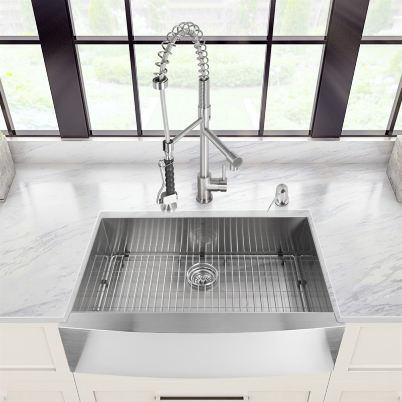 30 inch zero radius stainless steel farm apron kitchen sink kas3021 in vancouver