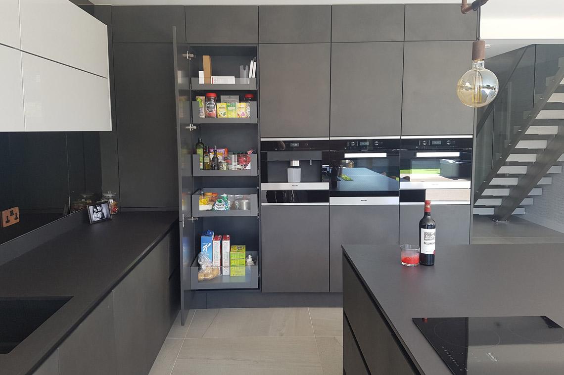 Dark Grey Concrete Luxury Kitchen Installation In London Kitchens London