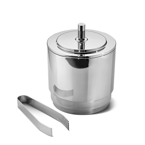 Georg Jensen - Manhattan Ice bucket with tongs stainless steel 1