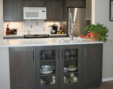 Galley Kitchen with Peninsula