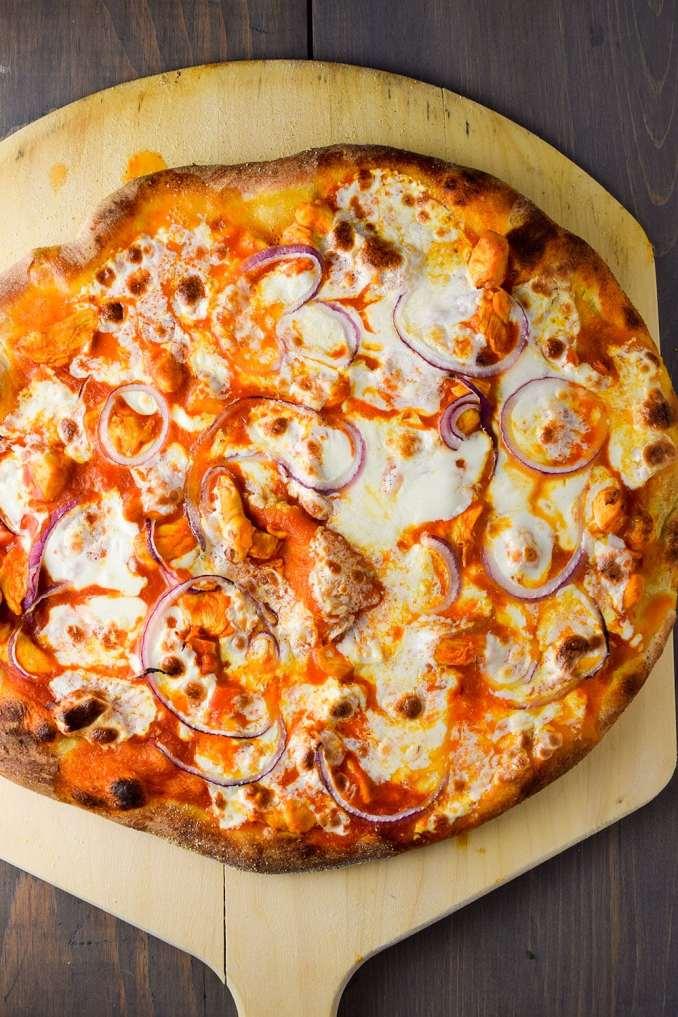 Buffalo Chicken Pizza Recipe | Kitchen Swagger