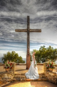bride at cross
