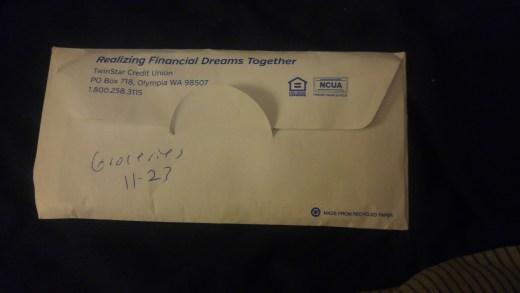 Grocery envelope