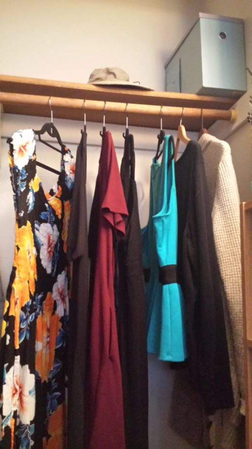 My capsule wardrobe-the clothes that hang in my closet.