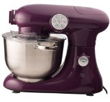 EuroPrep EP700 7-Quart 6 Speed Stand Mixer, Planetery Action with Stainless Steel Bowl (Boysenberry)